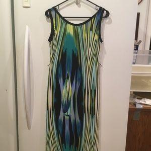Roz and Ali A-line Shift Maxi Dress Size 4 Petite